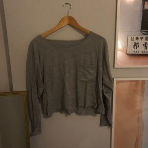 American apparel gray crop tee